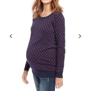 Motherhood polka dot sweater size large EUC